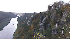 Elbe river valley with sand stone rocks