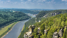 river view in the Elbe Sandstone Mountains