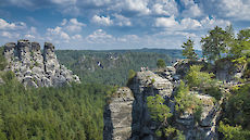 view point in Elbe sandstone highlands